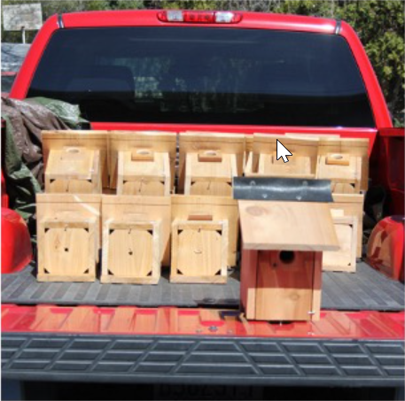 Image - A truckload of new Bluebird boxes, courtesy of the Mary Ball chapter of the DAR!